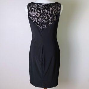 Lauren Ralph Lauren Dresses - RALPH LAUREN Sequin Illusion Lace Sheath Dress